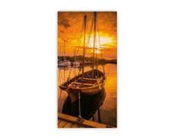 Luxusní dřevěný nástěnný obraz Sunset