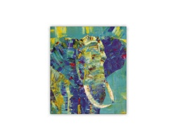 Luxusní dřevěný nástěnný obraz Elephant