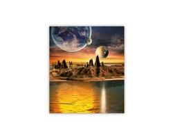 Luxusní dřevěný nástěnný obraz Cosmic