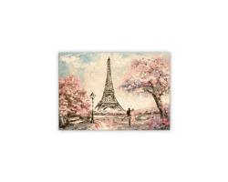 Luxusní dřevěný nástěnný obraz Eiffel Tower