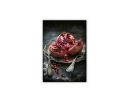 Luxusní dřevěný nástěnný obraz Food Art