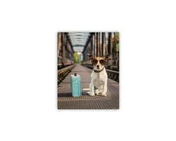 Luxusní dřevěný nástěnný obraz Dog