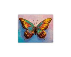 Luxusní dřevěný nástěnný obraz Butterfly