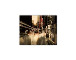Luxusní dřevěný nástěnný obraz City