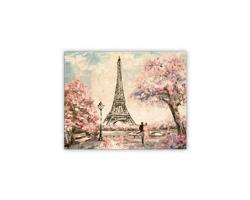 Luxusní dřevěný nástěnný obraz Eiffel Tower Small