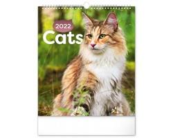 Nástěnný kalendář Kočky 2022
