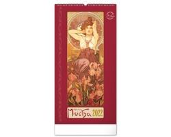 Nástěnný kalendář Alfons Mucha 2022 - 33x64 cm