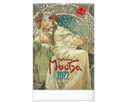 Nástěnný kalendář Alfons Mucha 2022 - 33x46 cm