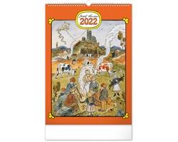 Nástěnný kalendář Josef Lada - Rok na vsi 2022
