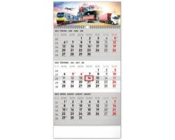 Tříměsíční nástěnný kalendář Spedice 2022 s českými jmény - šedá