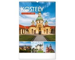 Nástěnný kalendář Kostely a poutní místa 2022