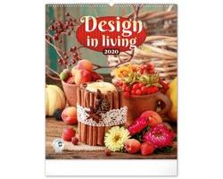 Nástěnný kalendář Design in Living 2020