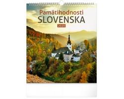 Nástěnný kalendář Pamätihodnosti Slovenska 2020 - slovenský
