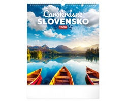 Nástěnný kalendář Čarokrásne Slovensko 2020 - slovenský
