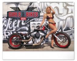 Nástěnný kalendář Girls & Bikes - Jim Gianatsis 2020