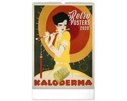 Nástěnný kalendář Retro plakáty 2020