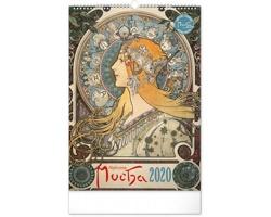 Nástěnný kalendář Alfons Mucha 2020 - 33 x 46 cm