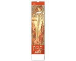 Nástěnný kalendář Alfons Mucha 2020 - 12 x 48 cm