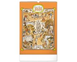 Nástěnný kalendář Josef Lada - Měsíce 2020