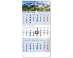 Tříměsíční nástěnný kalendář Tatry 2020, se slovenskými menami - modrá