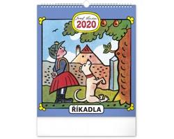 Nástěnný kalendář Josef Lada - Říkadla 2020