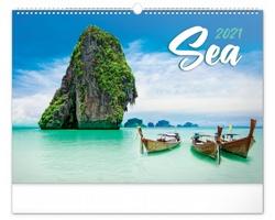Nástěnný kalendář Moře 2021