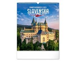 Nástěnný kalendář Pamätihodnosti Slovenska 2021 - slovenský