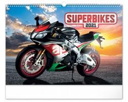 Nástěnný kalendář Superbikes 2021