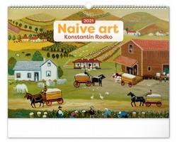 Nástěnný kalendář Naivní umění - Konstantin Rodko 2021