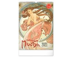 Nástěnný kalendář Alfons Mucha 2021 - 33x46 cm