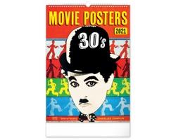 Nástěnný kalendář Retro plakáty 2021