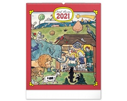 Nástěnný kalendář Josef Lada - Zvířátka 2021