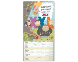 Nástěnný kalendář Rodinný plánovací XXL 2021 - slovenský