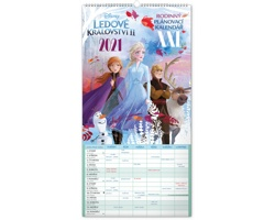 Nástěnný kalendář Rodinný plánovací XXL - Ledové království II 2021