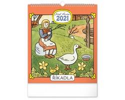 Nástěnný kalendář Josef Lada - Říkadla 2021