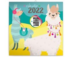 Nástěnný kalendář Šťastné lamy 2022 - poznámkový - západoevropský