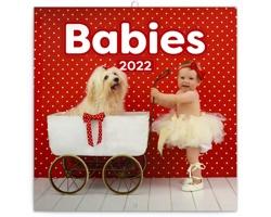 Nástěnný kalendář Babies - Věra Zlevorová 2022 - poznámkový - západoevropský