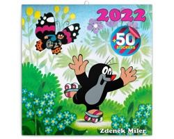 Nástěnný kalendář Krteček 2022 - poznámkový, 50 samolepek