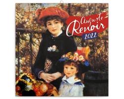 Nástěnný kalendář Auguste Renoir 2022 - poznámkový - západoevropský