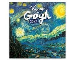 Nástěnný kalendář Vincent van Gogh 2022 - poznámkový - západoevropský