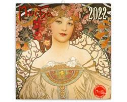 Nástěnný kalendář Alfons Mucha 2022 - poznámkový - východoevropský