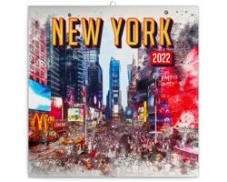 Nástěnný kalendář New York 2022 - poznámkový - západoevropský