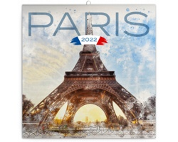 Nástěnný kalendář Paříž 2022 - poznámkový - západoevropský