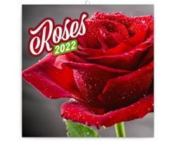 Nástěnný kalendář Květiny 2022 - poznámkový - západoevropský