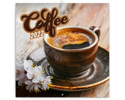Nástěnný kalendář Káva 2022 - poznámkový, voňavý - západoevropský