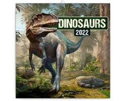 Nástěnný kalendář Dinosauři 2022 - poznámkový - západoevropský