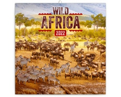 Nástěnný kalendář Divoká Afrika 2022 - poznámkový - východoevropský