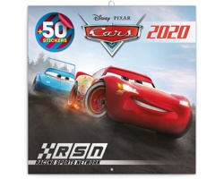 Nástěnný kalendář Auta 3 2020 - poznámkový, 50 samolepek