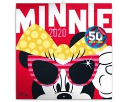 Nástěnný kalendář Minnie 2020 - poznámkový, 50 samolepek