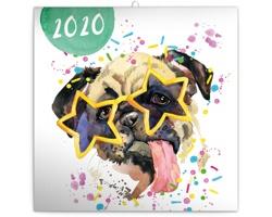 Nástěnný kalendář Kamarádi z akvarelu 2020 - poznámkový
